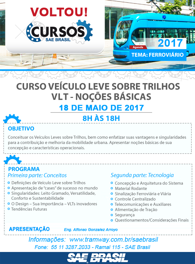 Curso VLT - Noções Básicas - SAE/2017
